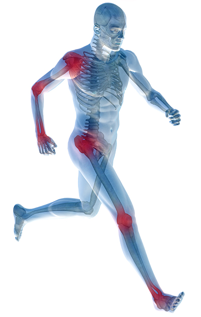 Man Running with Muscles - Sports & Pain Management